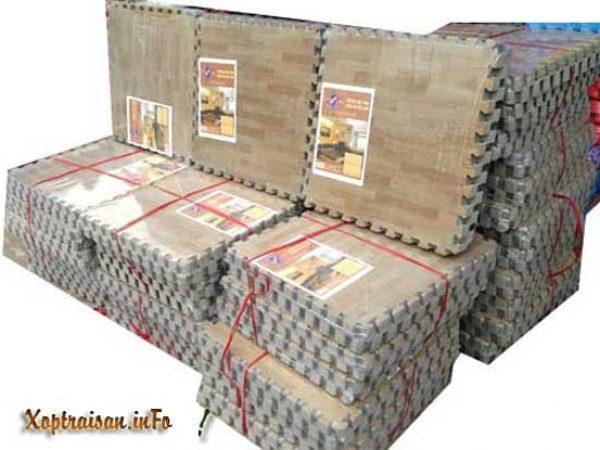 Xốp trải sàn vân gỗ Tường Lâm 60×60